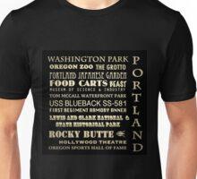 Portland Oregon Famous Landmarks Unisex T-Shirt