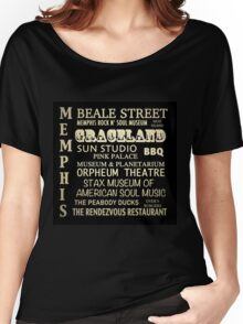 Memphis Tennessee Famous Landmarks Women's Relaxed Fit T-Shirt