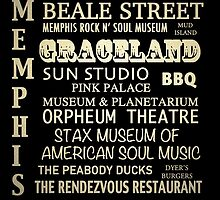 Memphis Tennessee Famous Landmarks by Patricia Lintner