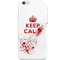 Keep Calm Blood Splatter iPhone Case/Skin