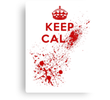 Keep Calm Blood Splatter Canvas Print
