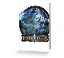 Shockblade Zed - League of Legends Greeting Card