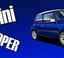 Mini Cooper Illustrated Mug wrap by RJWautographics
