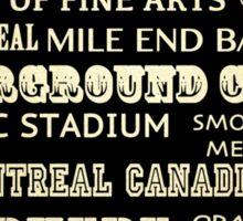 Montreal Quebec Famous Landmarks Sticker