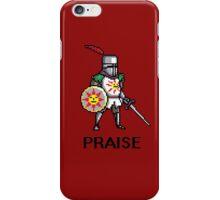 Solaire of Astora PRAISE pixelated iPhone Case/Skin