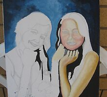 Unfinished - Artist and Sister Portrait by Jennifer Heseltine