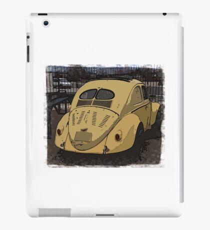 Aircooled VW - Split Window Beetle Ragtop - Hidden Treasures iPad Case/Skin