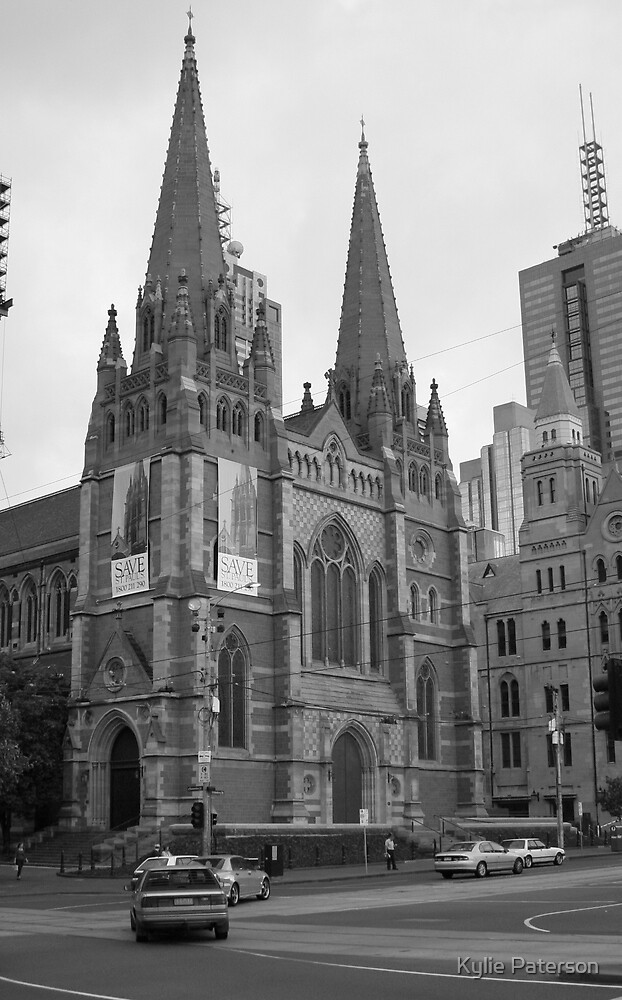 St Pauls Cathedral in Flinders st Melbourne by Kylie Paterson