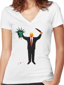 Trump and Liberty Women's Fitted V-Neck T-Shirt