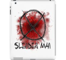 Slenderman blood spatter and symbol iPad Case/Skin