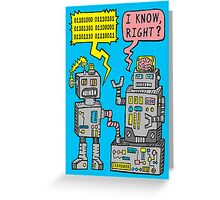 Robot Talk Greeting Card