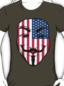 Guy Fawkes American Flag T-Shirt