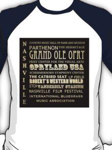 Nashville Tennessee Famous Landmarks T-Shirt