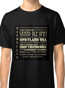 Nashville Tennessee Famous Landmarks Classic T-Shirt