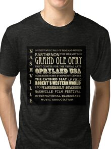 Nashville Tennessee Famous Landmarks Tri-blend T-Shirt