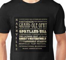 Nashville Tennessee Famous Landmarks Unisex T-Shirt