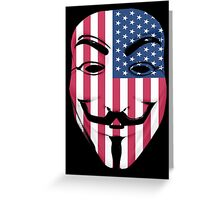 Guy Fawkes American Flag Greeting Card