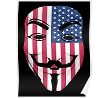 Guy Fawkes American Flag Poster