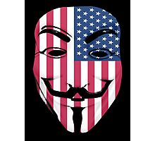 Guy Fawkes American Flag Photographic Print
