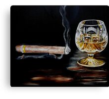 Cigar & Brandy Canvas Print