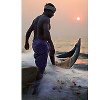 Keralan fisherman Photographic Print