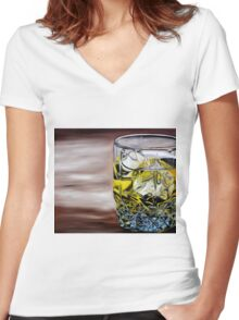 Scotch on the Rocks Women's Fitted V-Neck T-Shirt