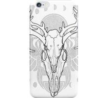 Deer Skull w/ Scarab iPhone Case/Skin