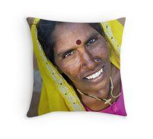 Rajasthani colour Throw Pillow