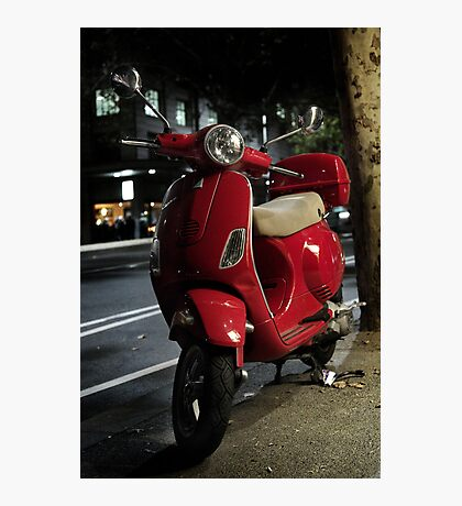 Red Scooter Photographic Print