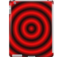 Red 3D Hoops  iPad Case/Skin