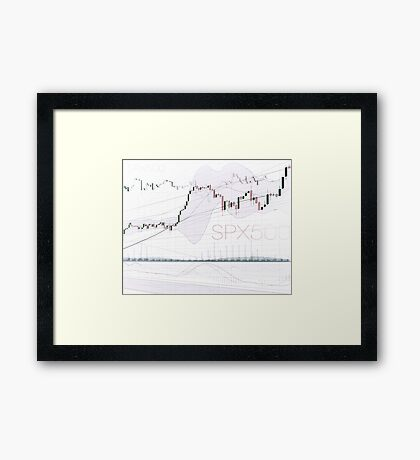 Stock market charts trading and investment concept art photo print Framed Print