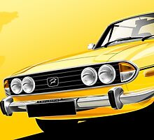 Triumph Stag Illustrated Mug wrap by RJWautographics