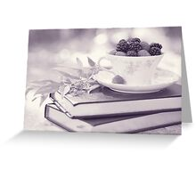 Fruity Tea bw Greeting Card