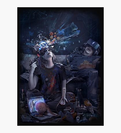 VR cyber suicide print  Photographic Print