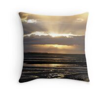 Golden Rays at Beadnal Bay Throw Pillow