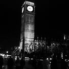 Big Ben At Night and In Black And White by brendan harkom