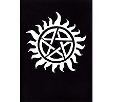 Supernatural Demon Possession Protection [WHITE] Photographic Print
