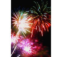 Fireworks extravaganza Photographic Print