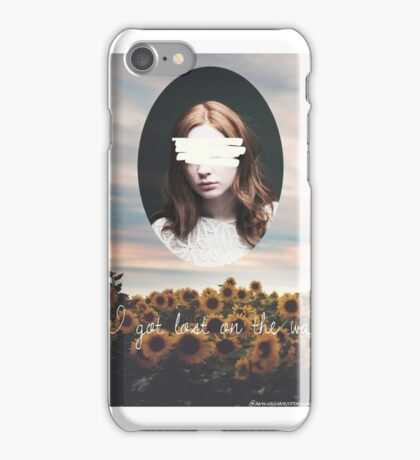 Karen Gillan flowers iPhone Case/Skin