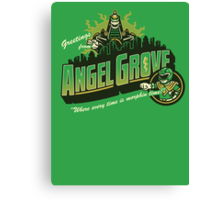 Greetings from Angel Grove! (Green Ranger) Canvas Print