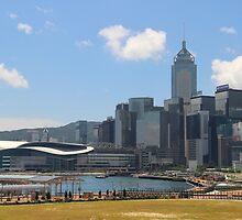 View of Causeway Bay - Hong Kong. by Tiffany Lenoir
