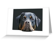 Rottweiler Portrait Vector Greeting Card