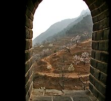 Window on the Great Wall by LOREDANA CRUPI