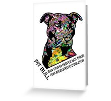 Pitbull BSL Black Greeting Card