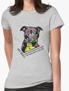 Pitbull BSL Black Womens Fitted T-Shirt