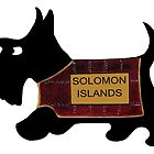 Commonwealth Games Scottie Dog 'Solomon Islands' by archyscottie