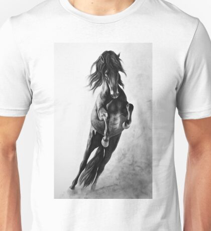 """On Wings of Faith"" - Andalusian stallion Unisex T-Shirt"