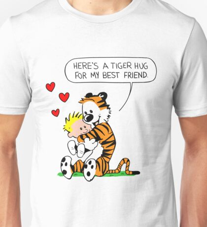 Calvin and Hobbes Tiger Hug Unisex T-Shirt