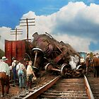 Train - Accident - Butting heads 1922 by Mike  Savad
