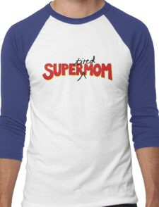 Super(tired)Mom Men's Baseball ¾ T-Shirt